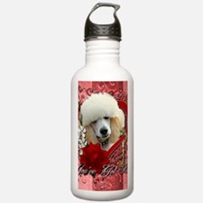 Valentine_Red_Rose_Poo Water Bottle