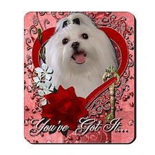 Valentine_Red_Rose_Maltese Mousepad