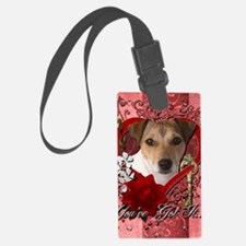 Valentine_Red_Rose_Jack_Russell Luggage Tag