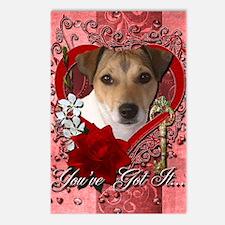 Valentine_Red_Rose_Jack_R Postcards (Package of 8)