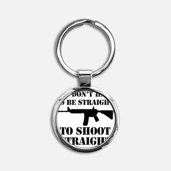Straight2 Round Keychain