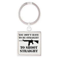 Straight2 Square Keychain