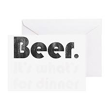 beerfordinner-bw Greeting Card