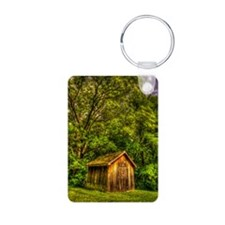journal_wooden cabin Keychains