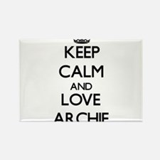 Keep Calm and Love Archie Magnets