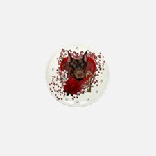 Valentine_Red_Rose_Doberman_Rocky Mini Button