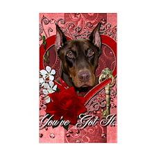Valentine_Red_Rose_Doberman_Ro Decal
