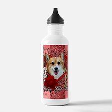 Valentine_Red_Rose_Cor Water Bottle
