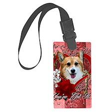 Valentine_Red_Rose_Corgi_Owen Luggage Tag