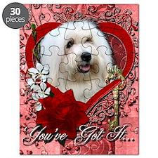 Valentine_Red_Rose_Coton_de_Tulear Puzzle