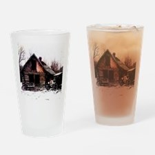 log_cabin_Grunge_8_NoteCard Drinking Glass