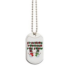Staching through the snow Dog Tags
