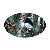 Bird watcher Oval Car Magnets