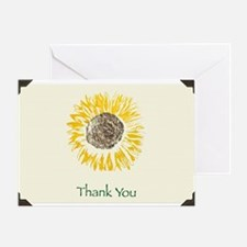 Yellow Sunflower Greeting Card