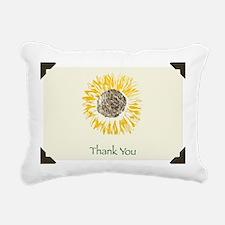 Yellow Sunflower Rectangular Canvas Pillow