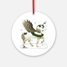 HollyUnicornBrandedNew Round Ornament