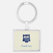 Owl Landscape Keychain