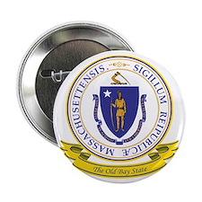 """Massachusetts Seal 2.25"""" Button"""