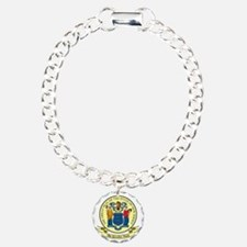New Jersey Seal Charm Bracelet, One Charm