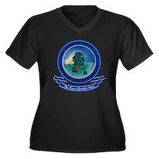 North Dakota Women's Plus Size Dark V-Neck T-Shirt