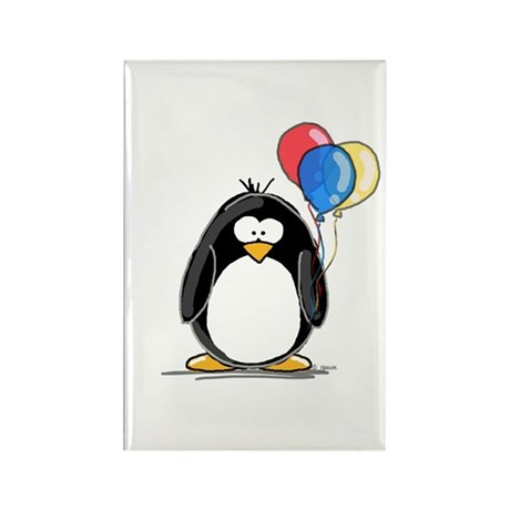 Primary Balloons Penguin Rectangle Magnet