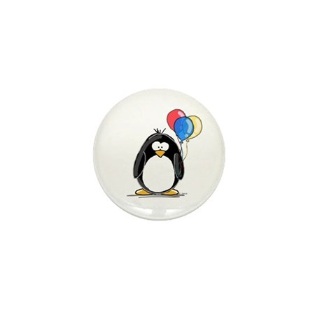 Primary Balloons Penguin Mini Button (100 pack)
