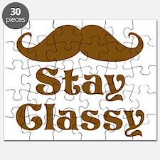 Stay Classy Mustache Puzzle