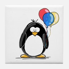 Primary Balloons Penguin Tile Coaster