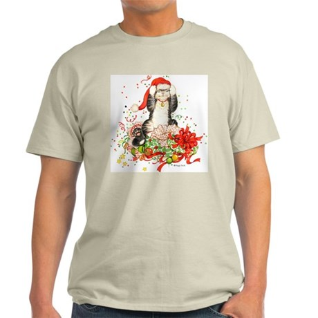 Front- back Christmas Kitty Tee Shir T-Shirt