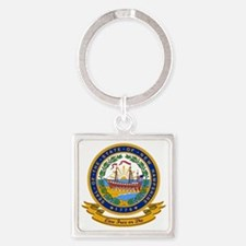 New Hampshire Seal Square Keychain