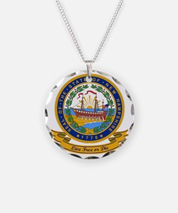 New Hampshire Seal Necklace