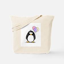 Pastel Balloons Penguin Tote Bag