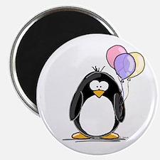 Pastel Balloons Penguin Magnet