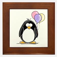 Pastel Balloons Penguin Framed Tile