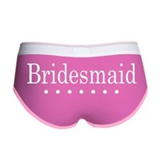DottedBridesmaidWhite Women's Boy Brief