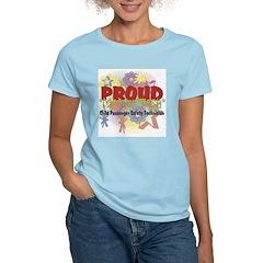 Child Passenger Safety Techni Women's Pink T-Shirt
