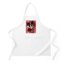Valentine_Red_Rose_Boston_Terrier Apron
