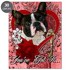 Valentine_Red_Rose_Boston_Terrier Puzzle