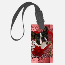 Valentine_Red_Rose_Boston_Terrie Luggage Tag