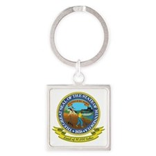 Minnesota Seal Square Keychain