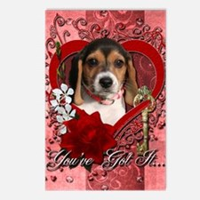 Valentine_Red_Rose_Beagle Postcards (Package of 8)