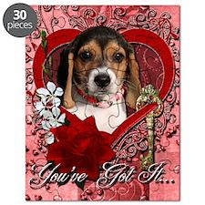 Valentine_Red_Rose_Beagle_Puppy Puzzle