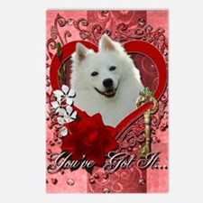 Valentine_Red_Rose_Americ Postcards (Package of 8)