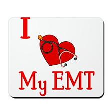 I Love My-EMT Mousepad