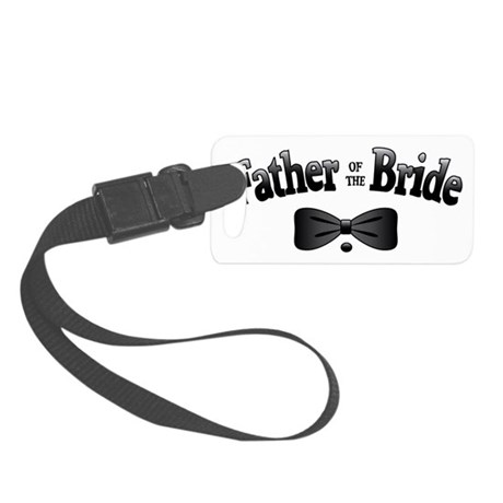 FatherBrideBowtie Small Luggage Tag