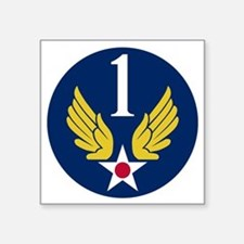 "1st Air Force - WWII Square Sticker 3"" x 3"""