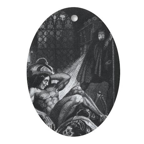 Frankenstein Monster Oval Ornament