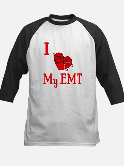 I Love My-EMT Kids Baseball Jersey
