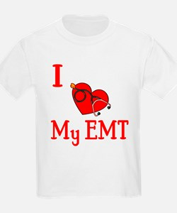 I Love My-EMT Kids T-Shirt