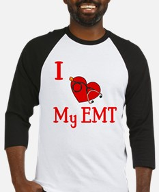 I Love My-EMT Baseball Jersey